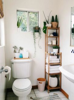 Lovely diy bathroom organisation shelves ideas 27