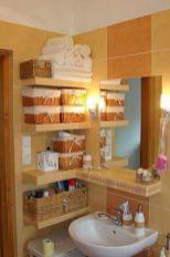 Lovely diy bathroom organisation shelves ideas 34