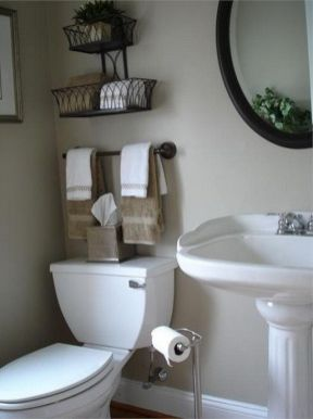 Lovely diy bathroom organisation shelves ideas 35