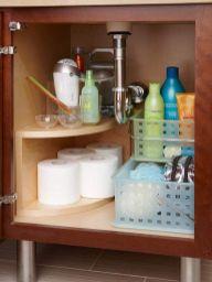 Lovely diy bathroom organisation shelves ideas 43