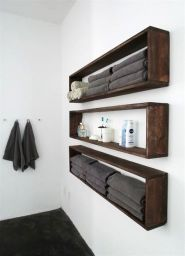 Lovely diy bathroom organisation shelves ideas 44
