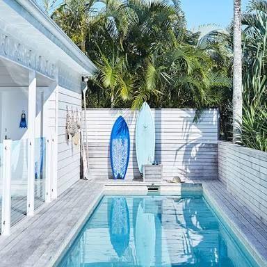 Minimalist small pool design with beautiful garden inside 03