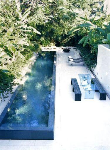 Minimalist small pool design with beautiful garden inside 19
