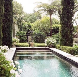 Minimalist small pool design with beautiful garden inside 26