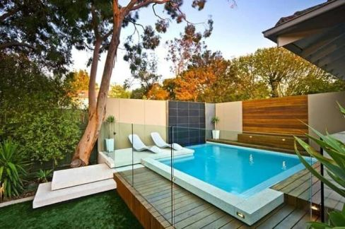 Minimalist small pool design with beautiful garden inside 32