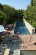 Minimalist small pool design with beautiful garden inside 40