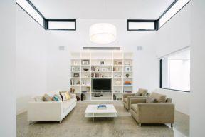 Modern white living room design ideas 01