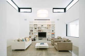 Modern white living room design ideas 01