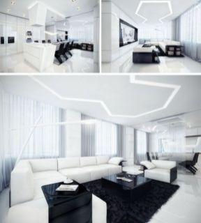 Modern white living room design ideas 02