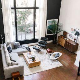 Modern white living room design ideas 08