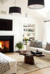 Modern white living room design ideas 09