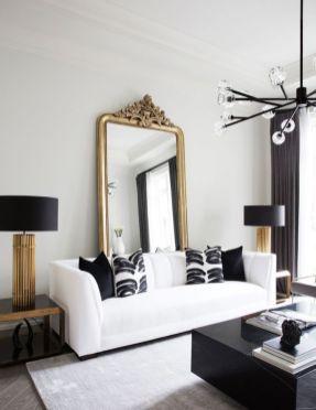 Modern white living room design ideas 16