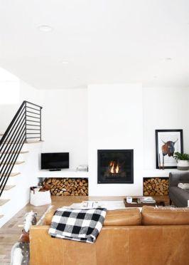 Modern white living room design ideas 17