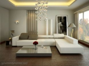 Modern white living room design ideas 20