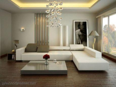 Modern white living room design ideas 20