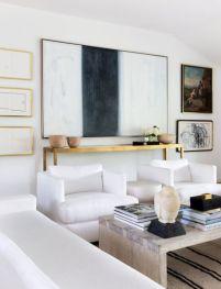 Modern white living room design ideas 28