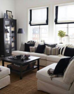 Modern white living room design ideas 29
