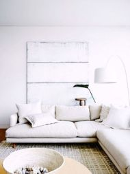 Modern white living room design ideas 33