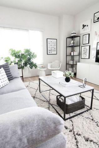 Modern white living room design ideas 35