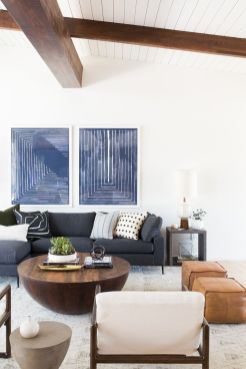 Modern white living room design ideas 37