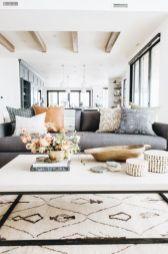 Modern white living room design ideas 43