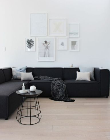 Modern white living room design ideas 44