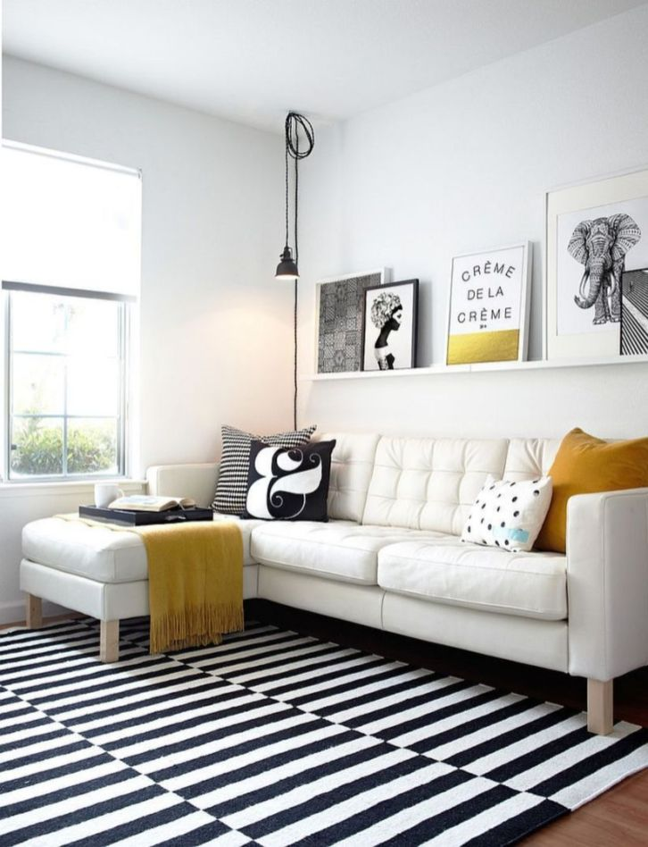 Modern white living room design ideas 48