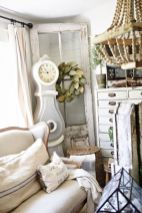 Romantic rustic farmhouse living room decor ideas 13