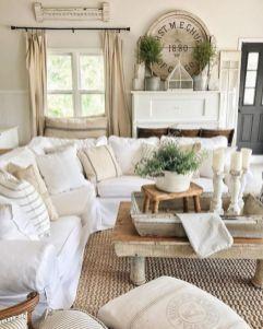 Romantic rustic farmhouse living room decor ideas 20