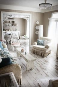Romantic rustic farmhouse living room decor ideas 24