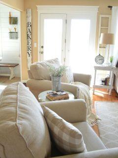 Romantic rustic farmhouse living room decor ideas 35
