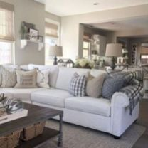 Romantic rustic farmhouse living room decor ideas 37
