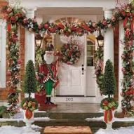 Stunning diy front porch christmas tree ideas on a budget 10