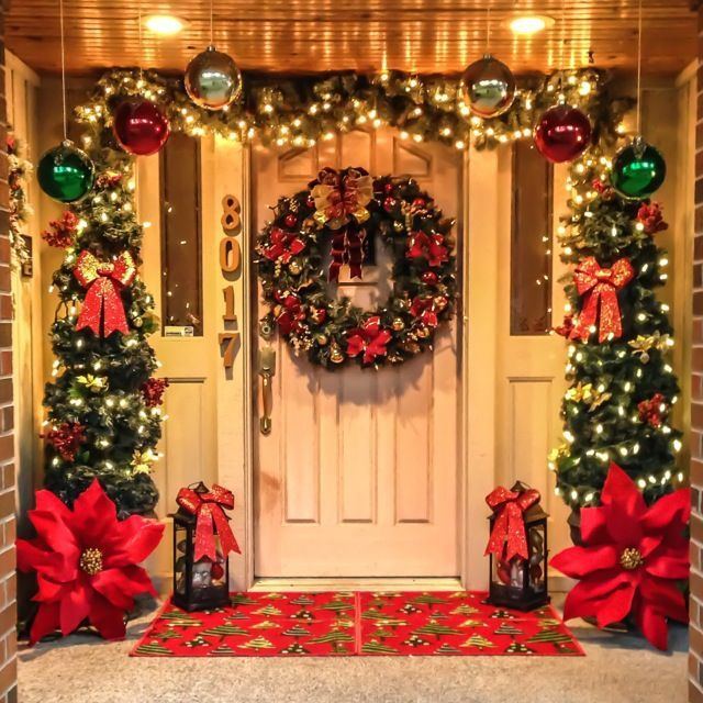 Stunning diy front porch christmas tree ideas on a budget 46