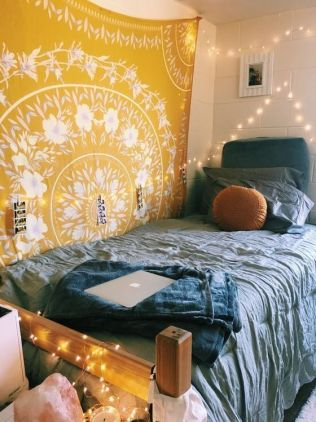 Stylish cool dorm rooms style decor ideas 07