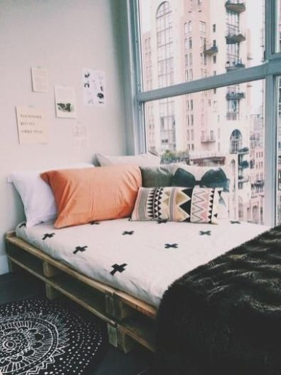 Stylish cool dorm rooms style decor ideas 32