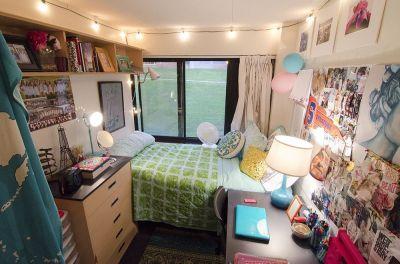 Stylish cool dorm rooms style decor ideas 49