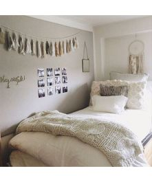 Stylish cool dorm rooms style decor ideas 50