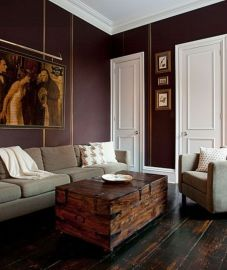 Amazing living room paint ideas by brown furniture 05