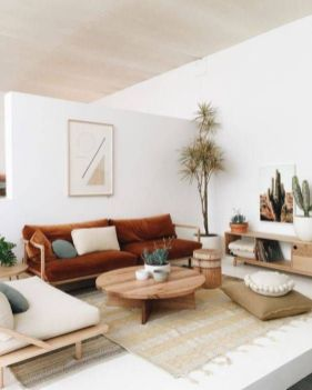 Amazing living room paint ideas by brown furniture 07