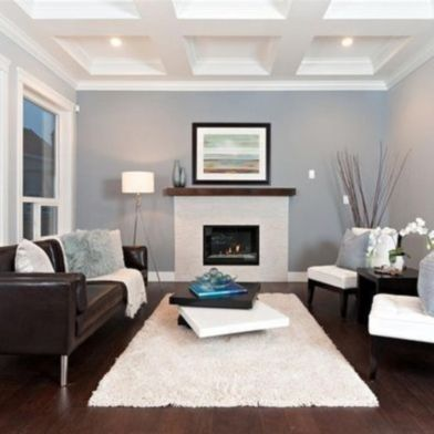 Amazing living room paint ideas by brown furniture 11