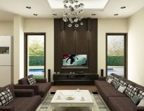 Amazing living room paint ideas by brown furniture 17