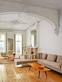 Amazing living room paint ideas by brown furniture 18