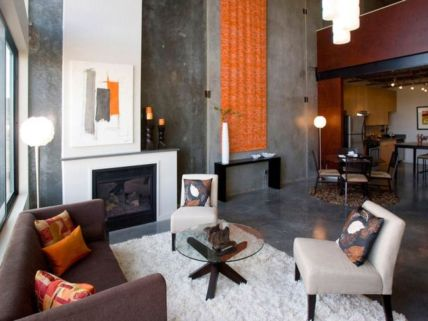 Amazing living room paint ideas by brown furniture 22