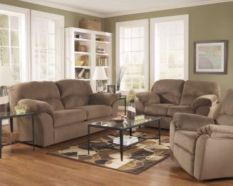 Amazing living room paint ideas by brown furniture 26