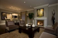 Amazing living room paint ideas by brown furniture 36