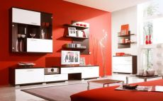 Amazing living room paint ideas by brown furniture 37