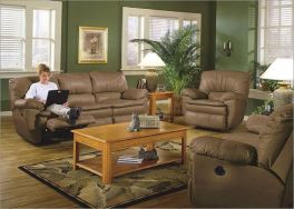 Amazing living room paint ideas by brown furniture 39