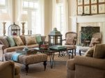 Amazing living room paint ideas by brown furniture 43