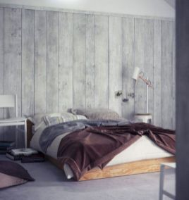 Awesome wooden panel walls bedroom ideas 17